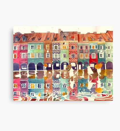 Rain in Poznan Canvas Print