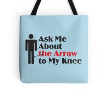 Skyrim - Ask Me About the Arrow (male) Tote Bag