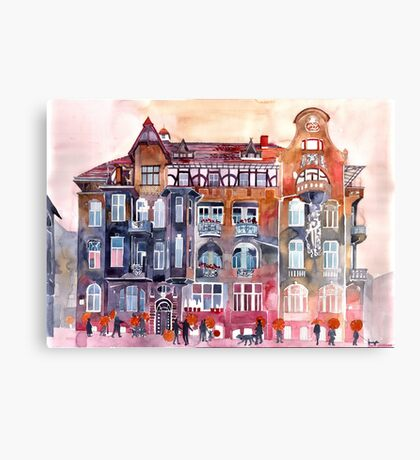 apartment house in Poznan Canvas Print