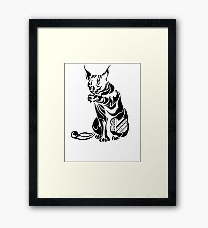 LongEared Cat Framed Print
