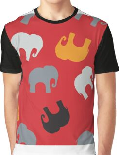 Seamless pattern with colorful elephants for textile, book cover, packaging. Graphic T-Shirt