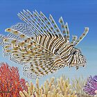 Lionfish and Coral by Jane Girardot