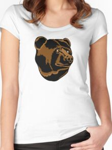 Bruins Pooh Bear Women's Fitted Scoop T-Shirt
