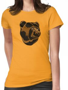 Bruins Pooh Bear Womens Fitted T-Shirt