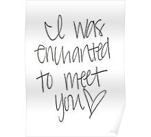 Enchanted To Meet You Poster