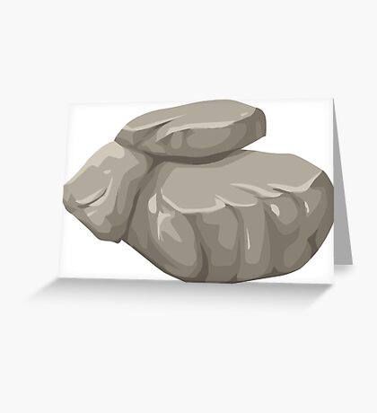 Floating Stone Greeting Card