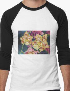 Tiger Orchid Men's Baseball ¾ T-Shirt