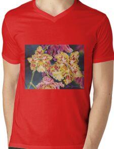 Tiger Orchid Mens V-Neck T-Shirt