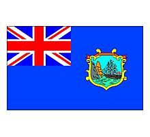 Old St Helena Flag Photographic Print