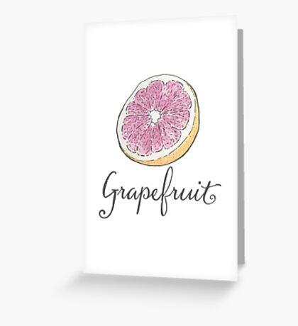 Grapefruit Watercolor Art Greeting Card