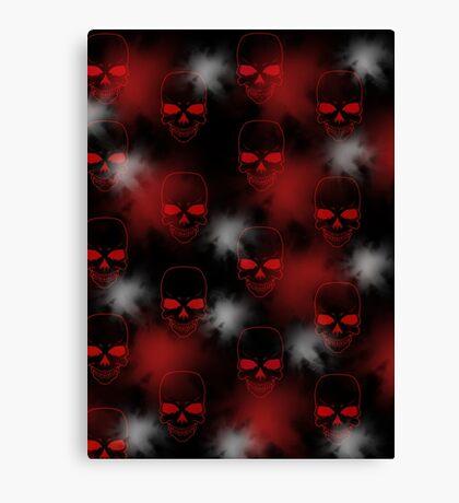 Red Skulls  Canvas Print
