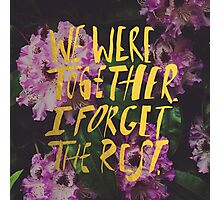 Whitman: We Were Together Photographic Print