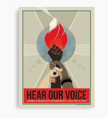 Hear Our Voice Canvas Print