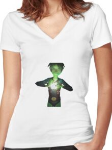 My green apple Women's Fitted V-Neck T-Shirt