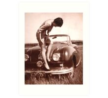 Memories of the Fifties [Austin A 90 ]1948 model ? Art Print