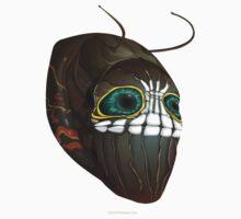 Glitch Masks Trimmed Caterpillar Mask One Piece - Short Sleeve