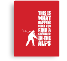 ...When You Find a Stranger in the Alps Canvas Print