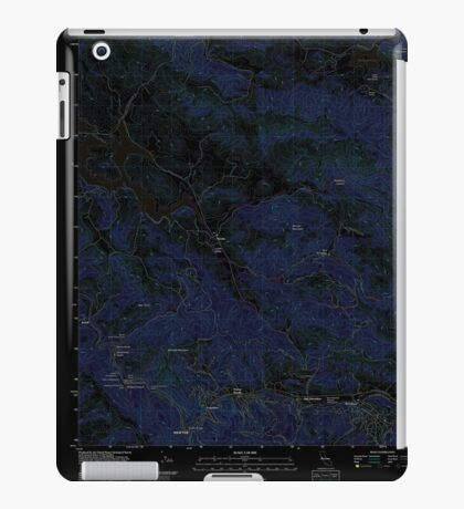 USGS TOPO Map California CA San Geronimo 20120213 TM geo Inverted iPad Case/Skin