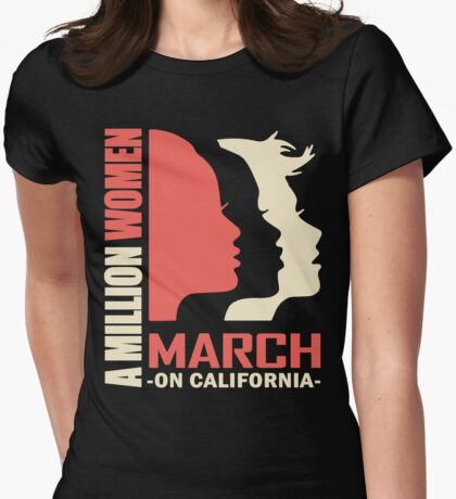 Women's March on California Womens Fitted T-Shirt
