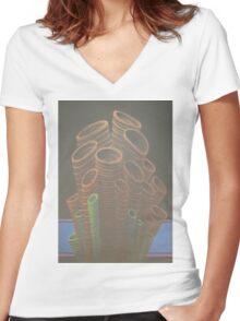 Sponges Women's Fitted V-Neck T-Shirt