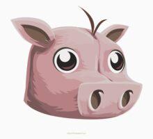 Glitch Masks Trimmed Pig Mask Kids Tee