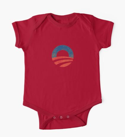 Retro Obama Logo One Piece - Short Sleeve