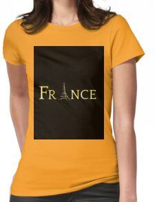 France Eiffel Tower Womens Fitted T-Shirt