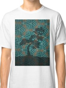 Winter Pine on Gold Embroidered Motif Classic T-Shirt