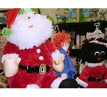 *Met this handsome Santa in gift shop* Photographic Print