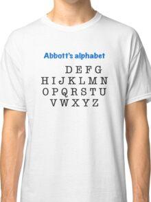 Abbott's alphabet Classic T-Shirt