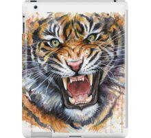 Ferocious Tiger Watercolor iPad Case/Skin