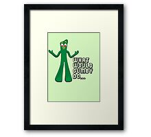 GUMBY Framed Print