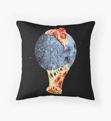 When the moon hits your eye... Throw Pillow