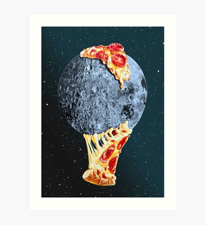 When the moon hits your eye... Art Print