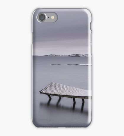 Frozen jetty over water iPhone Case/Skin