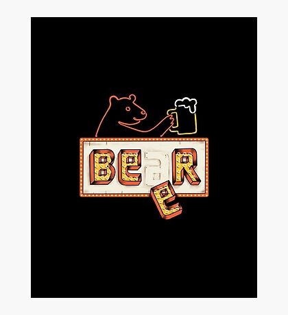 Bear or Beer Photographic Print