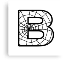 Spiderman B letter Canvas Print