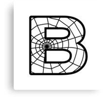 Spiderman B letter Canvas Print