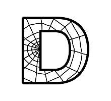 Spiderman D letter Photographic Print