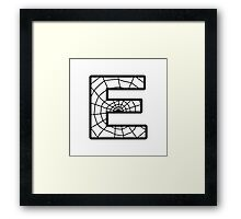 Spiderman E letter Framed Print