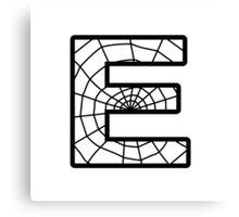 Spiderman E letter Canvas Print