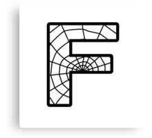 Spiderman F letter Canvas Print
