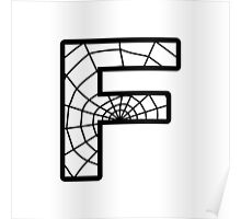 Spiderman F letter Poster