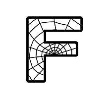 Spiderman F letter Photographic Print