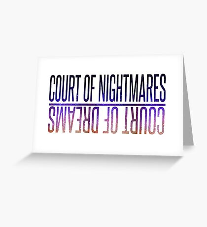 court of nightmares Greeting Card