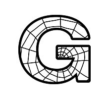 Spiderman G letter Photographic Print