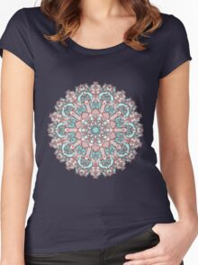 mandala#31 on pink background Women's Fitted Scoop T-Shirt