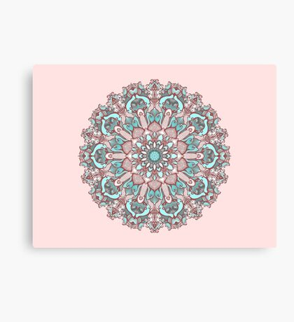 mandala#31 on pink background Canvas Print