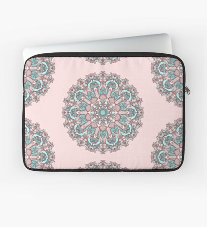 mandala#31 on pink background Laptop Sleeve