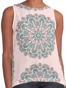 mandala#31 on pink background Contrast Tank